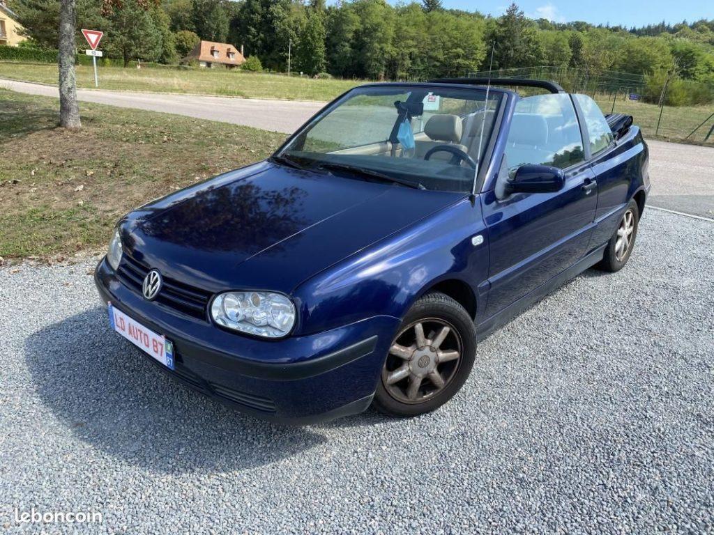 Volkswagen Golf IV Cabriolet 1.6 100cv / 3490€